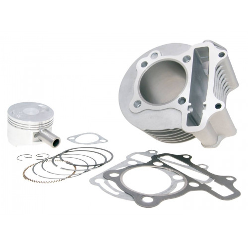 cylinder kit 150cc 57.4mm for China 4-stroke GY6 125 152QMI, 150 157QMJ GY27396
