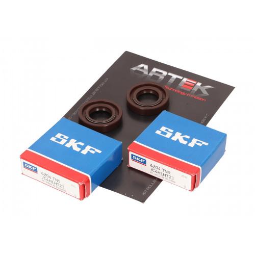 crankshaft bearing set ARTEK K1 racing SKF polyamide for Derbi Senda AT27975
