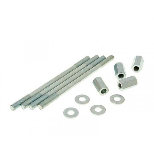 cylinder bolt set incl. nuts M7x120mm - 4 pcs each for Derbi EBE, EBS 24207