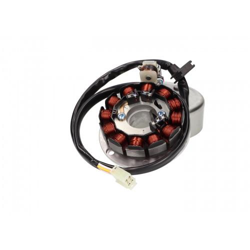 alternator stator and rotor OEM for Minarelli AM6 kick start (Power Up MORIC ignition) MIN-38338