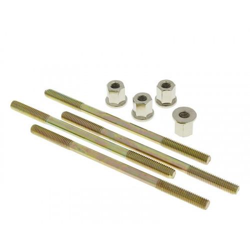 cylinder bolt set Naraku incl. nuts M6 thread 110mm overall length - 4 pcs each NK101.83