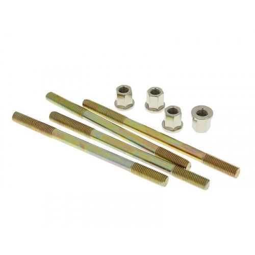 cylinder bolt set Naraku incl. nuts M7 thread 110mm overall length - 4 pcs each NK101.84
