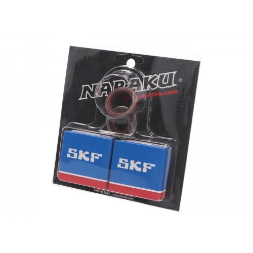 crankshaft bearing set Naraku SKF C3 metal cage for Minarelli AM NK102.90
