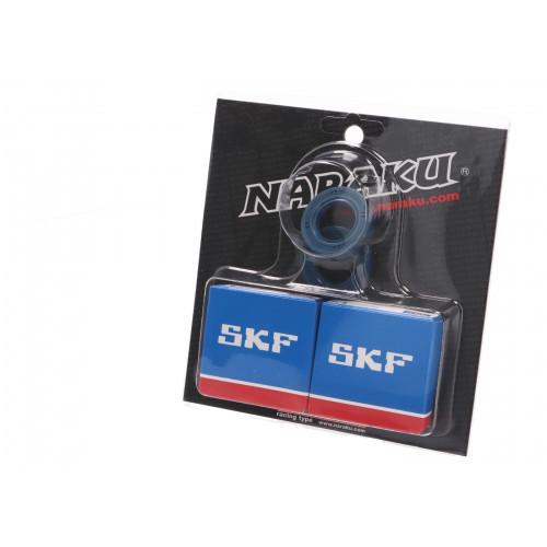 crankshaft bearing set Naraku SKF C4 metal cage for Derbi EBE, EBS, D50B0 NK102.91