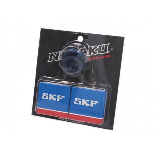 crankshaft bearing set Naraku SKF metal cage for Minarelli CW, MA, MY, CA, CY NK102.93