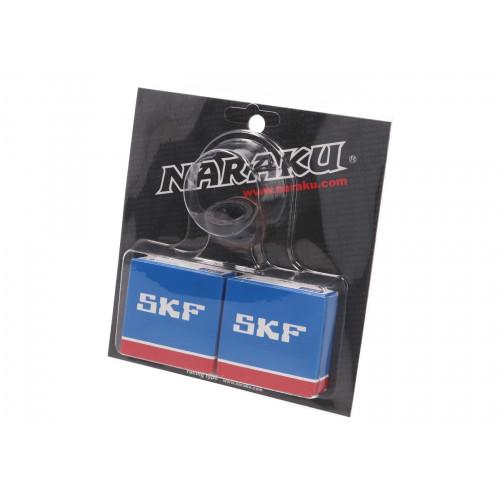 crankshaft bearing set Naraku SKF metal cage for Peugeot vertical Euro 2 NK102.94