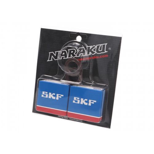 crankshaft bearing set Naraku SKF metal cage for Peugeot horizontal NK102.96