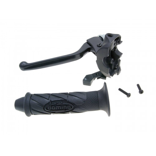 clutch lever fitting w/ choke and grip for Derbi GPR 50, MH Racing RX 50, RYZ, Peugeot XR6, XPS, Rieju RS2, RS3 36993