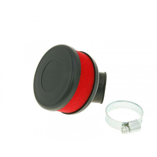 air filter Flat Foam red 28-35mm bent carb connection (adapter) VC23317