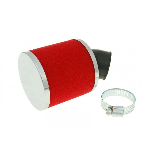 air filter Big Foam 28-35mm bent carb connection (adapter) red VC23321