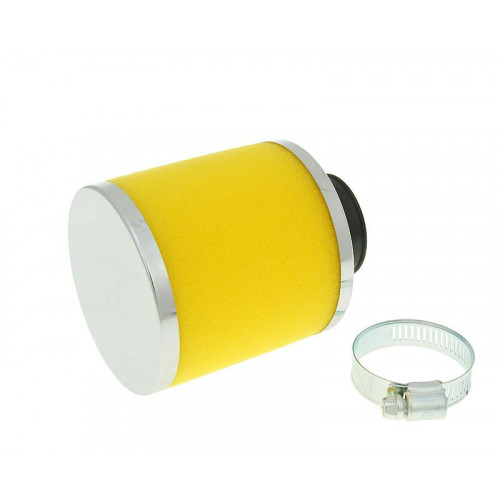 air filter Big Foam 28-35mm straight carb connection (adapter) yellow VC23322