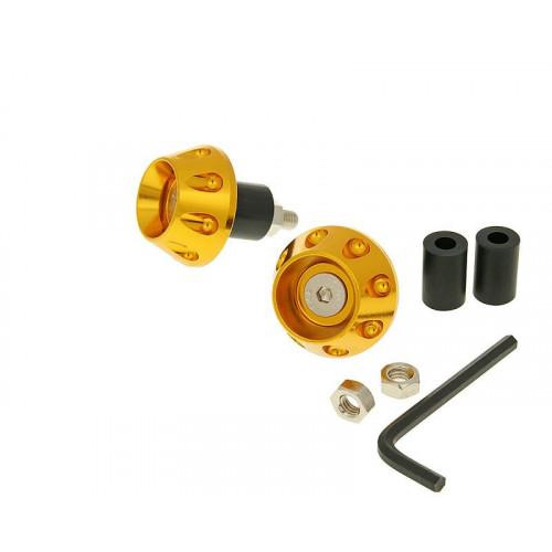 handlebar / bar ends anti-vibration flat 13.5 / 17.5mm (incl. adapter) - gold VC23343