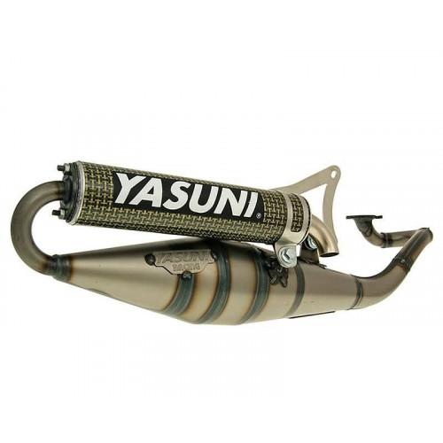exhaust Yasuni Scooter Z yellow carbon fiber for Minarelli horizontal YA901CK