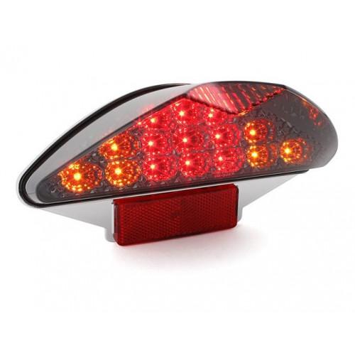 Aizmugurējais lukturis STR8 LED YAMAHA AEROX / NITRO / CPI / ITALJET DRAGSTER ar pagriezienu rādītajiem
