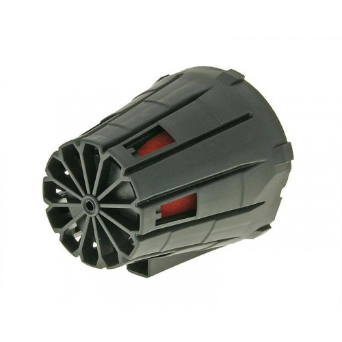 air filter boxed racing 39-45mm straight version (incl. adapter) red filter, black housing VC18398