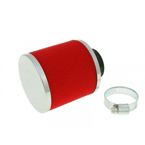 air filter Big Foam 28-35mm straight carb connection (adapter) red VC23320